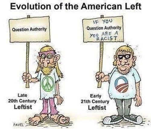 evolution of the american left 20th century question authority 21st if you do so youre a racist