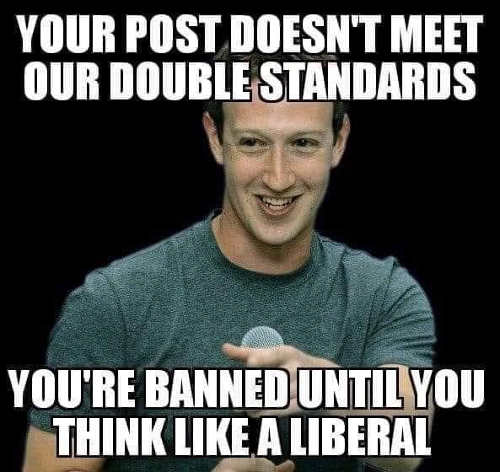facebook zuckerberg your post doesnt meed liberal double standards