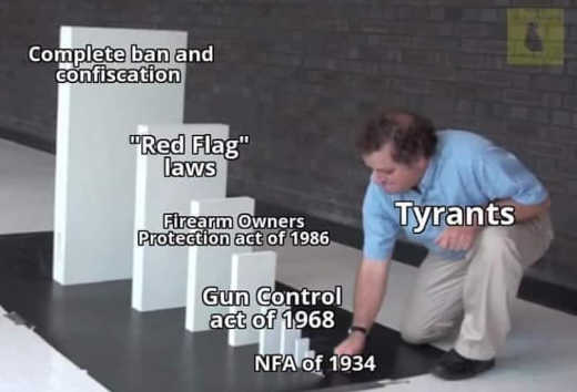 gun dominoes nfa firearm protection act red flag laws complete ban confiscation