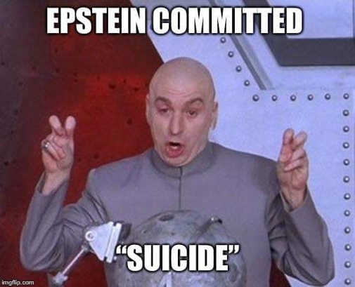 jeffrey epstein committed suicide air quotes
