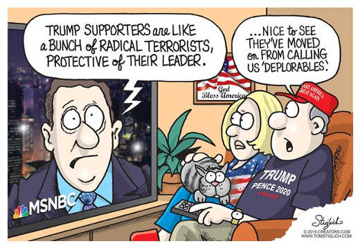 media trump supporters radical terrorists least not calling us deplorables