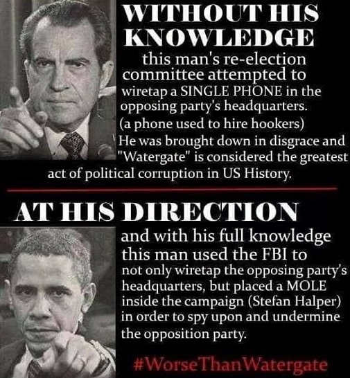 nixon watergate comparison wiretapping obama