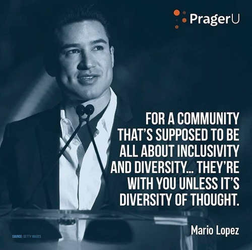 quote mario lopez community all about diversity except thought