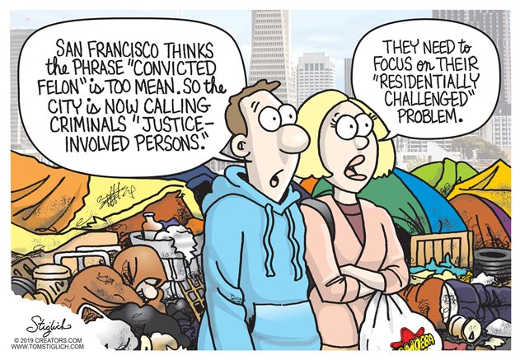 san francisco justice connected felon residentally challenged
