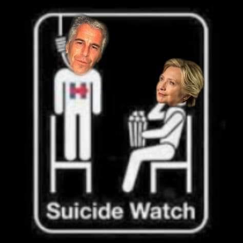 suicide watch hillary jeffrey epstein hung