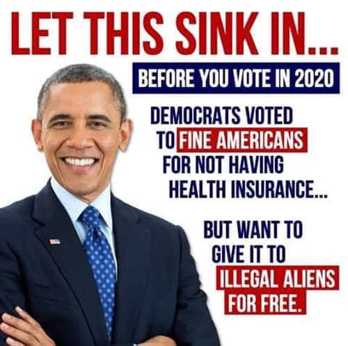 2020 obama fined america not buying health insurance democrats giving to illegals free