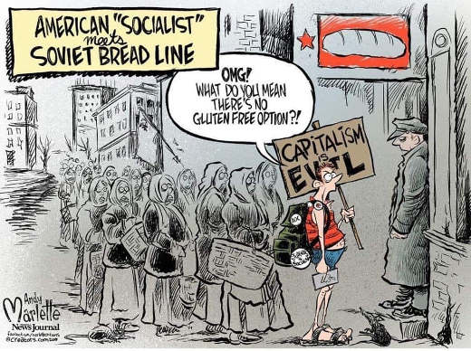 american socialist bread line omg no gluten free option