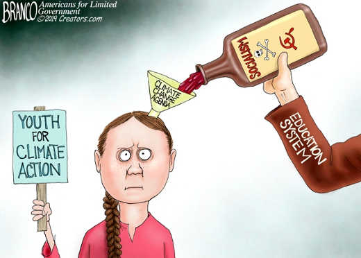 climage change agenda education system brainwashing propaganda