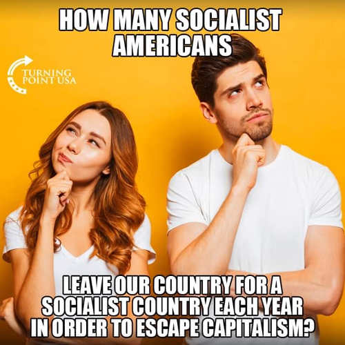 how many socialist americans leave our country for another one to escape capitalism