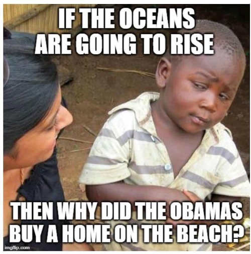 if oceans are going to rise why did obamas buy house on beach