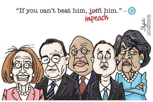 if you just cant beat him impeach him schiff watters pelosi booker nadler