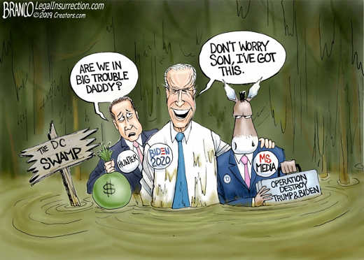 mainstream media dc swamp take out biden and impeach trump at once