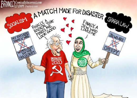 match made in disaster bernie sanders omar socialism sharia law