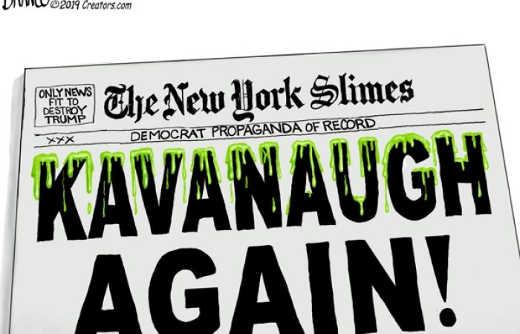 new york times propaganda of record kavanaugh headline