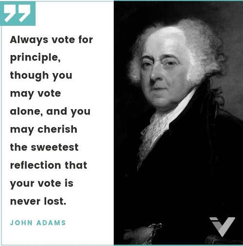 quote always vote for principle john adams