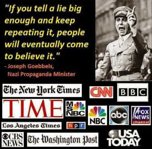 quote goebbels if you tell lie big enough and repeat people will believe cnn msnbc nyt post abc time
