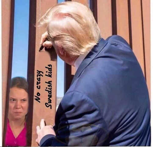 trump autographing wall no crazy swedish kids