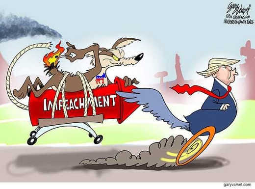 trump impeachment democrats acme wile e coyote roadrunner