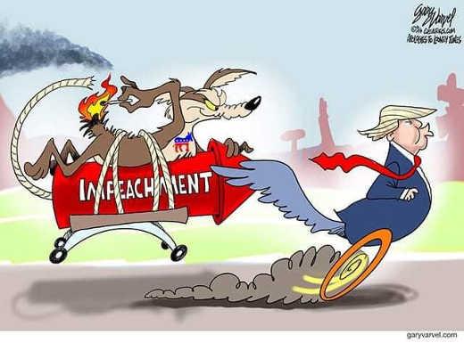 trump impeachment democrats acme wile e coyote roadrunner