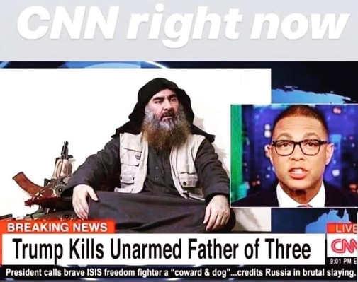 cnn right now trump kills unarmed father of three