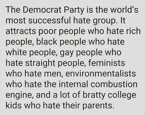 democratic party worlds biggest hate group
