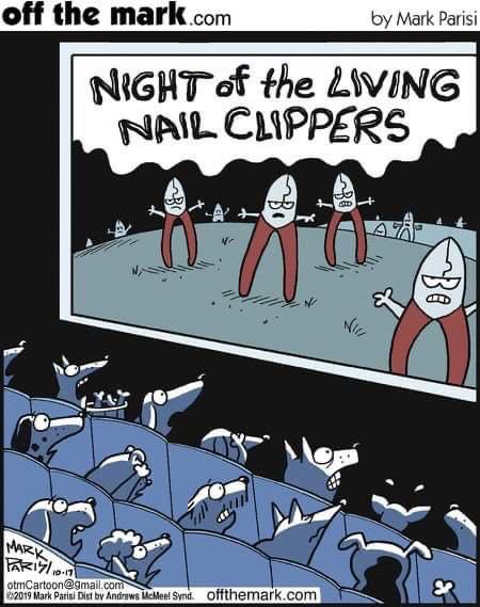 dogs horror movie night of living nail clippers