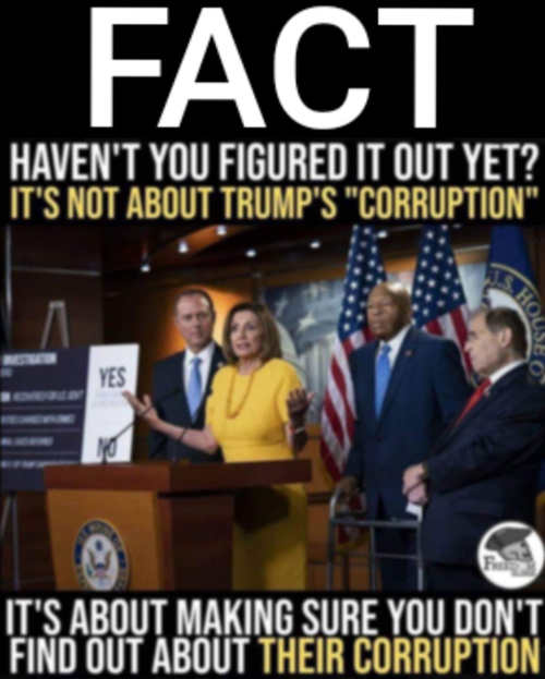 fact its not about trumps corruption its about making sure you dont find out democrats corruption