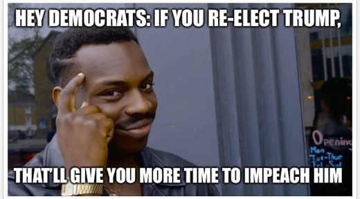 hey democrats if you reelect trump you will have time to impeach him