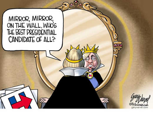 hillary clinton mirror mirron on wall who greatest presidential candidate of all