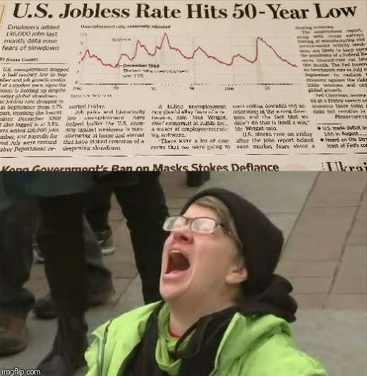 liberal noooo us jobless rate hits 50 year low