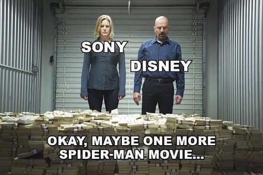sony disney okay maybe one more spiderman move breaking bad cash
