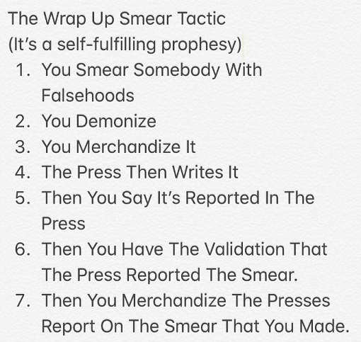 art of smear steps using media