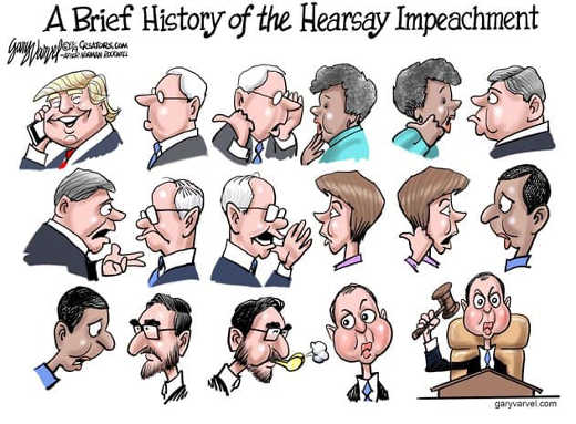 brief history of the hearsay impeachment trump telephone witnesses schiff