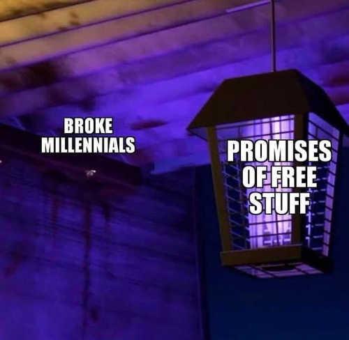 broke millennials promises of free stuff bug zapper