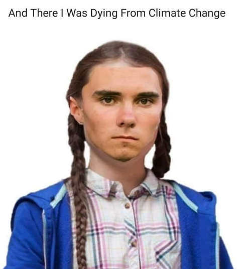 david hogg there i was dying from climate change greta thunberg