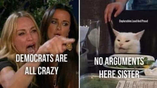 diaz angry lady cat democrats are crazy no argument here sister