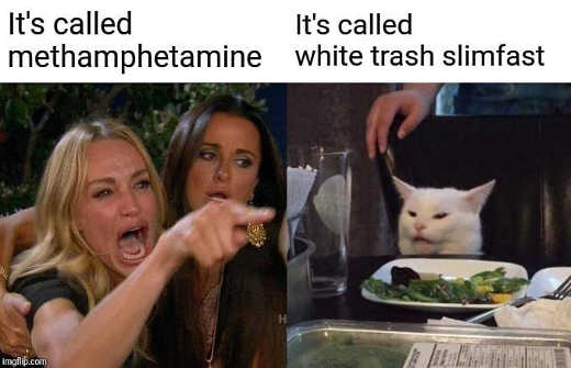 diaz angry lady cat its called methamphetamine white trash slimfast