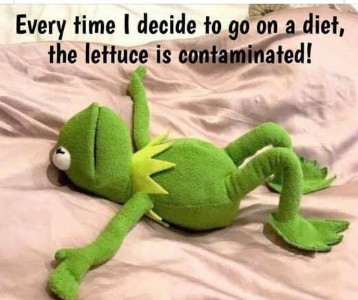 every time i try to go on diet lettuce is contaminated