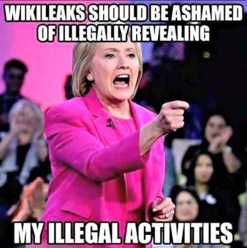 hillary clinton wikileaks should be ashamed for exposing my illegal activities