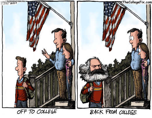 kid going to college coming back as karl marx