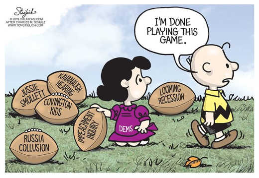 lucy charlie brown football done with this game democrats impeachment russia kavanaugh