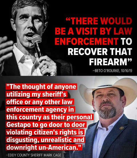 quote beto orourke law enforcement recover firearms sheriff make cage
