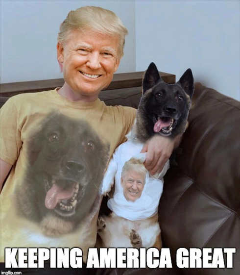 trump dog conan matching tshirts