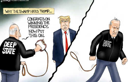why the deep state hates trump leash shove up ass