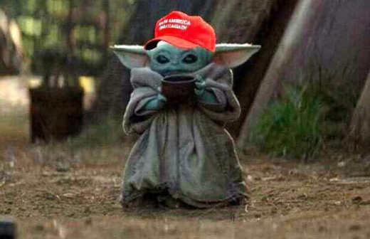 baby yoda maga hat