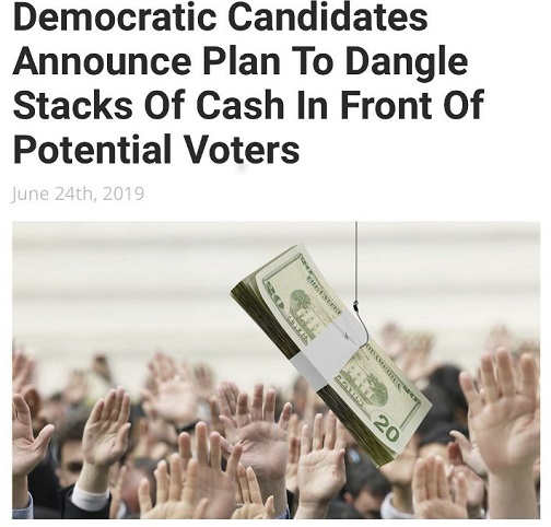 democrats announce plan to dangle cash in front of voters