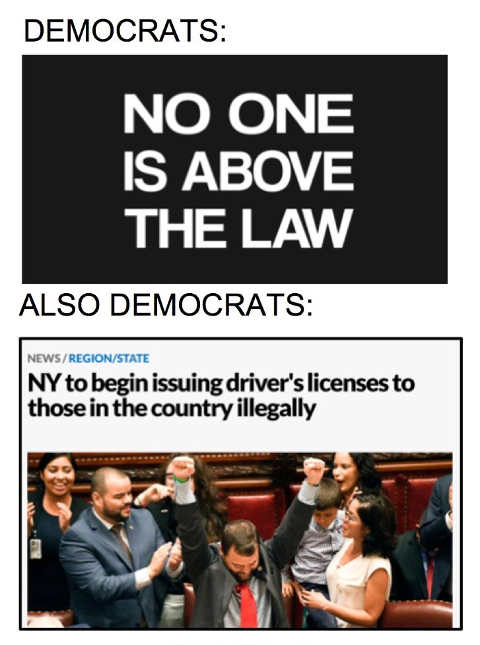 democrats no one above the law ny drivers licenses for illegals