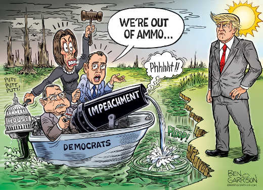 democrats out of ammo trump impeachment