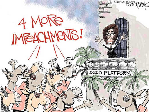 democrats pelosi 4 more impeachments 2020 platform