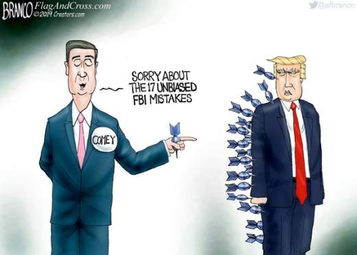 fbi james comey sorry about the 17 unbiased mistakes all hit trump